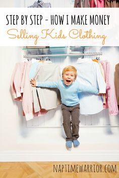 I am sharing my secrets on how to make money selling kids clothes. My no fail method will get you cash in your pocket fast.