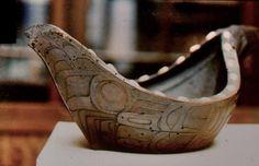 Northwest Coast Feast Bowl in museum in Scotland - photos via Barry Herem FB