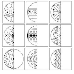 drawings of animals Christmas Math, Christmas Activities For Kids, Noel Christmas, Middle School Art, Art School, Thema Winter Im Kindergarten, Symmetry Activities, Art For Kids, Crafts For Kids