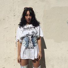 T-shirt dress denim corsetPinterest :Thatsmarsb <- FOLLOW FOR MORE!