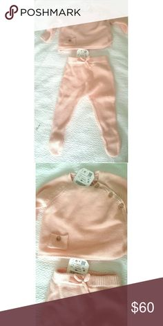 ZARA 0-3 MONTH BABY GIRL 2 piece included 0-3 month Zara Tag Never Worn Shirts & Tops