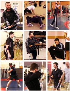 Richard Armitage at Dwarf Boot Camp. Are these the same pants from MI-5/ Spooks?