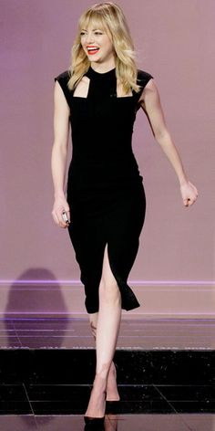 Look of the Day - January 12, 2013 - Emma Stone in J. Mendel from #InStyle