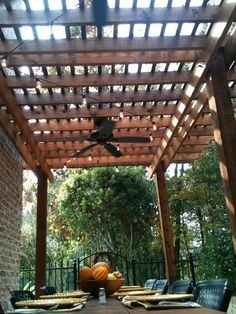 Image result for covered pergola with ceiling fan