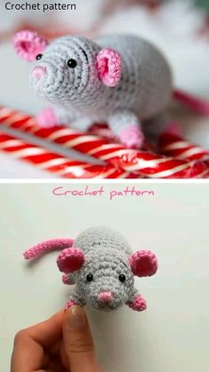 crochet pattern mouse, amigurumi mouse, crochet pet, crochet toys pattern, amigurumi pattern – Toys_by_Hvatik - Crochet Chat Crochet, Crochet Mignon, Crochet Mouse, Crochet Baby, Crochet Cat Toys, Easter Crochet Patterns, Crochet Patterns Amigurumi, Knitting Patterns, Crochet Keyring Free Pattern