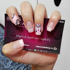 Resultado de imagen para uñas decoradas atrapasueños Love Nails, Pretty Nails, My Nails, Nail Selection, Tribal Nails, Nail Polish Art, Cute Nail Art, Perfect Nails, Simple Nails