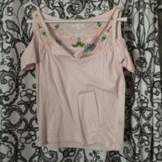 Pink detailed shirt from Italy- beautifully hand detailed Tops