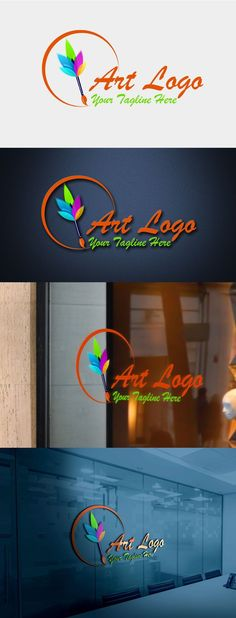 Modern Art Logo Design Template Free Logo Templates, Logo Design Template, Great Logos, Art Logo, Mockup, Modern Art, How To Memorize Things, Awesome Logos, Contemporary Art