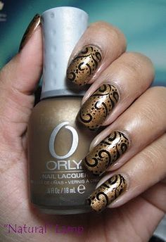 My Simple Little Pleasures: NOTD: Orly Solid Gold #nails