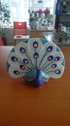 peacock. iznik tile