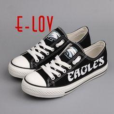 0c21edb1ff95 Philadelphia Eagles Canvas Shoe Fashion Fans Customization Shoes Graffiti  style  ELov  PhiladelphiaEagles