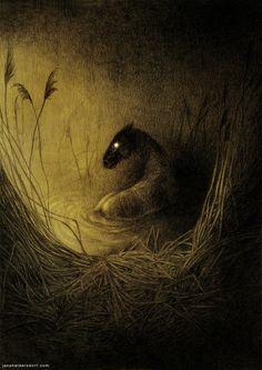 New creepy tree drawing artists Ideas Kelpie Horse, Dark Fantasy, Fantasy Art, Art Watercolor, Art Vintage, Arte Horror, Creepy Art, Bizarre Art, Creature Concept