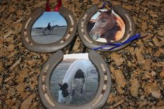 Completed Project: Horse Shoe Photo Frame Picture #1