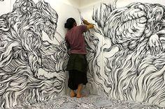 Nice mural for a studio