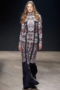Mary Katrantzou Fall 2014 Ready-to-Wear Fashion Show - Erika Wall