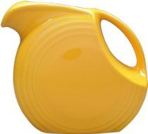 Fiesta 67-1/4-Ounce Large Disk Pitcher, Marigold • MADE in USA •