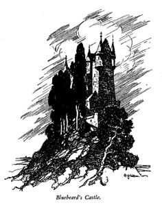 Bluebeard's haunting looking castle illustrated by A. H. Watson featured in this book : Told Again - Old Tales Told Again - Illustrated by A. H. Watson available on http://www.amazon.co.uk/books/dp/1473320100/ref=sr_1_1?ie=UTF8&qid=1436531481&sr=8-1&keywords=Told+Again+-+Old+Tales+Told+Again+-+Illustrated+by+A.+H.+Watson
