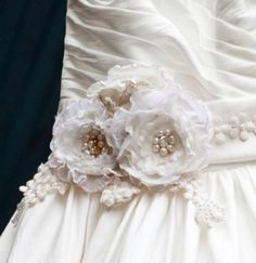 Fabulous pearl trim on gown!