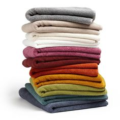 Twill Organic Bath Sheet, $63,  New ORCHID color just in time for spring! These towels are loomed from pure organic cotton, in colors that are inspired by nature.