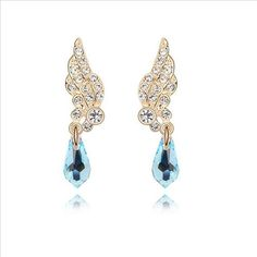 $10 Angels calling Swarovski crystal earrings - Yohanna Jewelry Wholesale.  BEST PRICE: Directly in the jewelry factory. VAT-free shopping: Available, partners based in the European Union, only applies to EU tax identification number (UID). Exclusive design SWAROVSKI crystals and AAA Zircon crystal jewelry and men's stainless steel jewelry and high-quality stainless steel jewelry for couples sell in bulk to resellers! Please contact us.