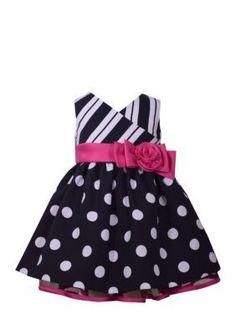 Bonnie Jean  Nautical Floral Bow Dress