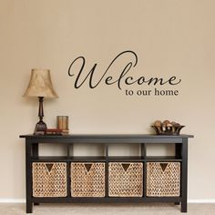 Welcome Wall Sticker Welcome to our home par StephenEdwardGraphic