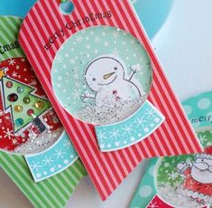 Snow Globe Shaker Tags by Betsy Veldman for Papertrey Ink (September 2012)
