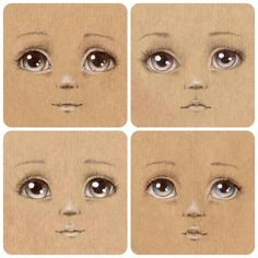 Draw Faces ♔ How to make Unique Dolls More - Eye Painting, Doll Painting, Doll Crafts, Diy Doll, Fabric Dolls, Paper Dolls, Doll Face Paint, Sewing Dolls, Dolls Dolls