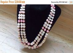 30% OFF Vintage Necklace Pink JAPAN Faux by YoursOccasionally