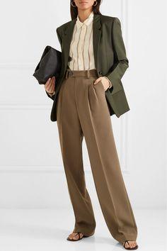 Bottega Veneta Woman Mohair And Wool-blend Blazer Forest Green Suit Fashion, Fashion Outfits, Womens Fashion, Pijamas Women, Suits For Women, Clothes For Women, Lawyer Fashion, Brown Outfit, Inspiration Mode