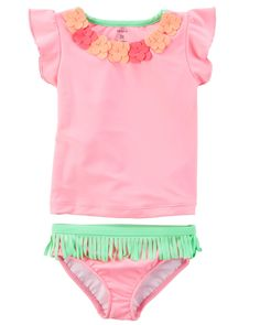 Baby Girl Carter's Hawaiian 2-Piece Swimsuit   Carters.com