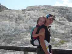 moms who inspire..mammoth-hot-springs..little girl has cerebral palsy and couldn't hike with a wheelchair. very cool