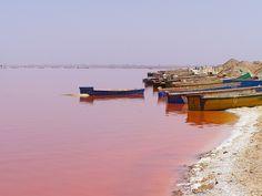 lake retba senegal   Розовое озеро Ретба (Retba), Сенегал ...