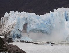 Ruptures occur every four to five years after the glacier forms a dam over the southern arm of the lake, with the last one happening in 2012