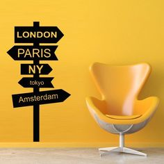 Wall Decal Decor Decals Art London Paris Ny Tokyo Amsterdam Pointer Road Sign Direction (M472), http://www.amazon.com/dp/B00FZESSJQ/ref=cm_sw_r_pi_awdm_zbzVtb11YA0KG