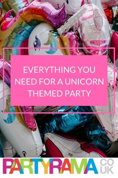 Planning a unicorn themed party? Everything you need is here at Partyrama #unicorn #unicornparty #partytheme #kidsparty #childrensparty