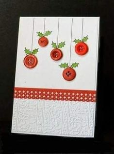 DIY Christmas cards lend a personal air to your holiday greetings. Making personal greeting cards is a festive and easy way to celebrate the holidays. Check out these DIY Christmas cards ideas & tutorials we've rounded up for you. Homemade Christmas Cards, Homemade Cards, Christmas Crafts, Christmas Ornaments, Christmas Card Designs, Prim Christmas, Christmas Ideas, Beautiful Christmas Cards, Button Cards