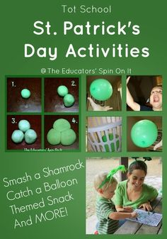Our St. Patrick's Day Tot School fun continues with this adorable Smash a Shamrock activity. These activities were planned for Tot School – 28 months. See how much fun you can have with just a few items for this St. Patrick's Day with your toddler.