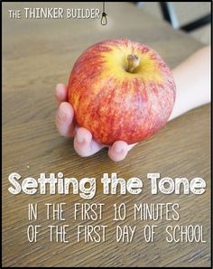 Setting the Tone in the First 10 Minutes of the First Day of School- a simple idea to start the year off right! LOVE this post!