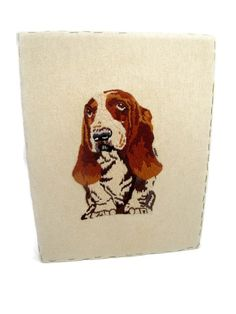 Vintage 1978 HUSH PUPPIES Cross Stitch Completed by CabinOn6th, $10.00