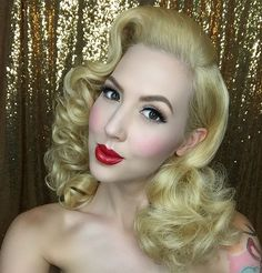 WEBSTA @ missrockabillyruby - A little #BTS action from our beauty shoot for @erikareno_artistry's upcoming makeup class (details and date to be announced). Makeup by @erikareno_artistry, wearing @besamecosmetics 1919 Rose and Sweet Pink blush along with Red Hot Red lipstick! I also styled my hair with my gorgeous full lace human hair wig from @thehairshopinc ❤️❤️❤️❤️ #vintagehair #pinuphair #pinup #hairbymissruby #erikarenoartistry #missrockabillyruby
