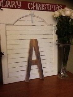 "Barn board letter ""A"""