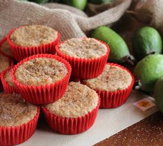 Feijoa and apple muffins
