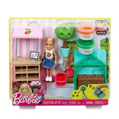 Check out the Barbie Garden Playset with Chelsea Doll at the official Barbie website. Explore all our Barbie dolls, playsets and accessories today! Barbie Playsets, Mattel Barbie, Barbie Doll Set, Barbie Chelsea Doll, Greenhouse Frame, Barbie Accessories, In The Tree, Japan, Trees To Plant