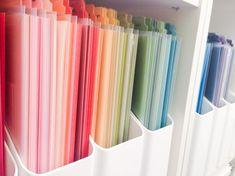 Sprinkled With Glitter: Craft Room Organization - Paper Organization