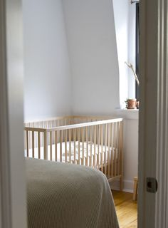 Best #baby #crib, in my opinion...these are neutral, are #minimalistic, while still very sturdy. Plus they're adjustable. Perfect for parents, and for grandparent's home, too!