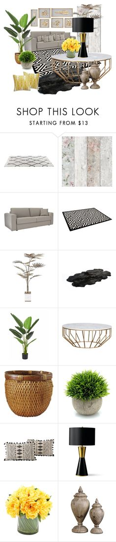 """A little of everything, wood stone metal organic green and lovely fabrics, all materials playing beautiful together"" by mrsorit on Polyvore featuring interior, interiors, interior design, home, home decor, interior decorating, Bowron, Frontgate, Creative Displays and Williams-Sonoma"