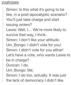 Funny Simon Lewis and Duncan yogscast text post