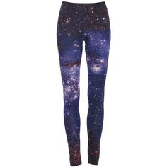 Starry Night Print Leggings ($26) ❤ liked on Polyvore featuring pants, leggings, bottoms, jeans, pantalones, stretchy pants, stretch pants, print leggings, patterned pants and star print pants