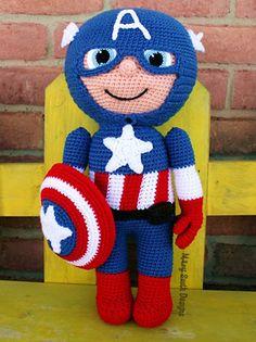 The HUGE list of Free Crochet Patterns For Boys - Captain America
